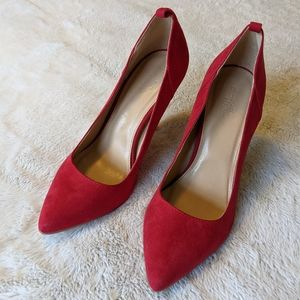 Charlotte Russe Red Gently Loved Pumps Size 9